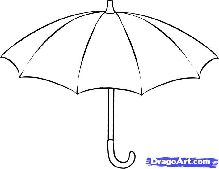 Рисуем зонт - фото 5