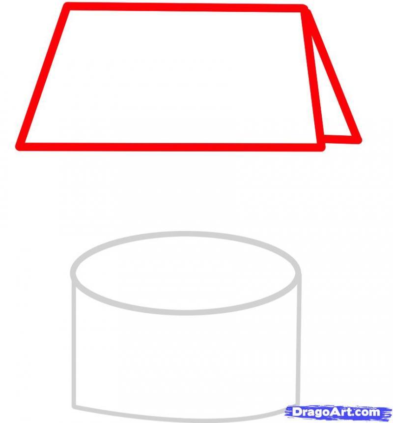 Как рисовать колодец с цветами