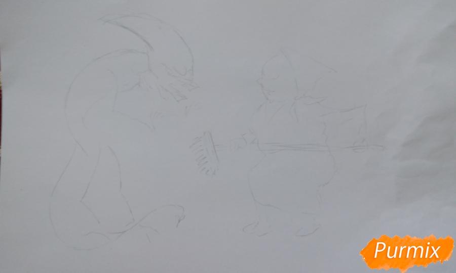 Карикатура: чужой в общежитии и как с ним бороться поэтапный урок - фото 1