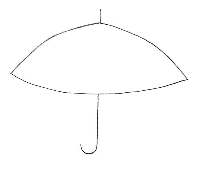 Как просто нарисовать зонтик - фото 1