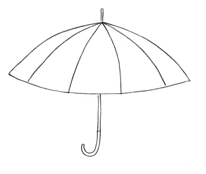 Как просто нарисовать зонтик - фото 2