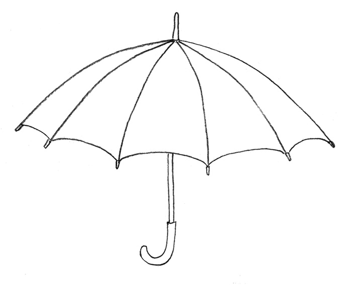 Учимся рисовать Зонтик