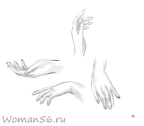 Как нарисовать женские руки