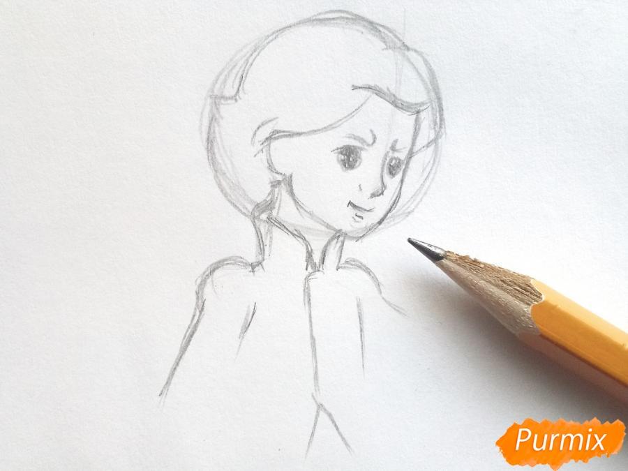 Рисуем Кая из сказки Снежная королева - фото 3