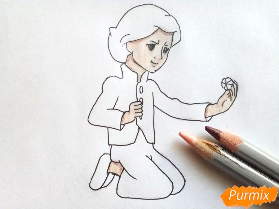 Рисуем Кая из сказки Снежная королева - фото 6