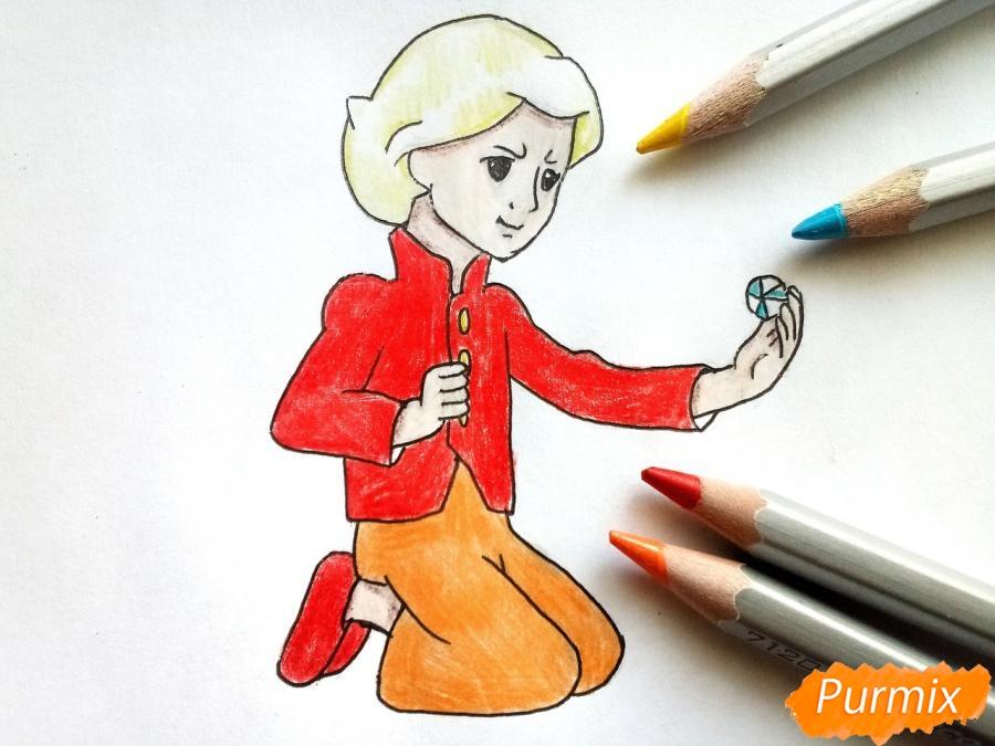 Рисуем Кая из сказки Снежная королева - фото 7