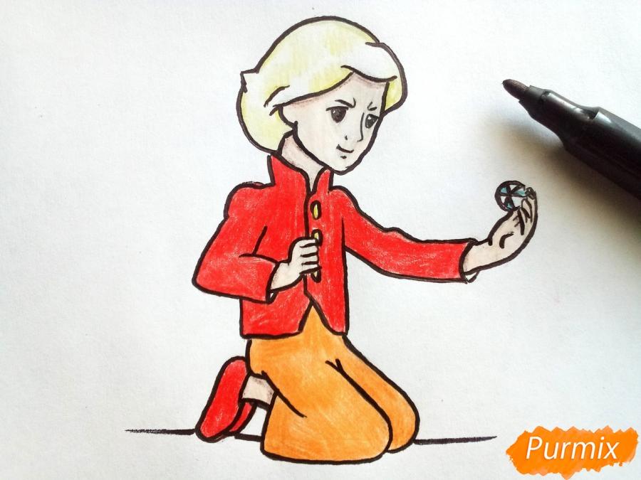 Рисуем Кая из сказки Снежная королева - фото 8