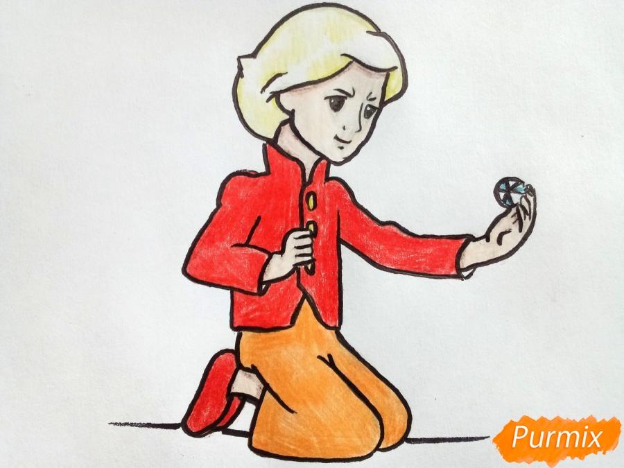 Как нарисовать Кая из сказки Снежная королева карандашом поэтапно