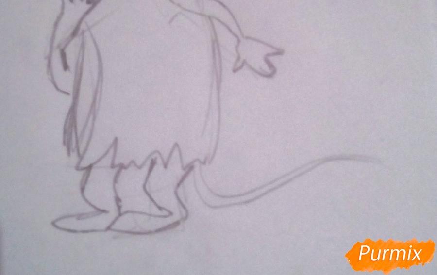 Рисуем крысу Шушера из Буратино карандашами - фото 5