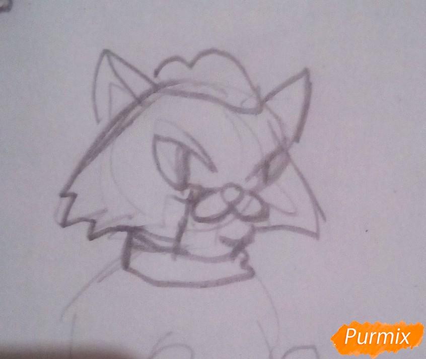 Рисуем лису Алису и кота Базилио из Буратино карандашами - фото 5