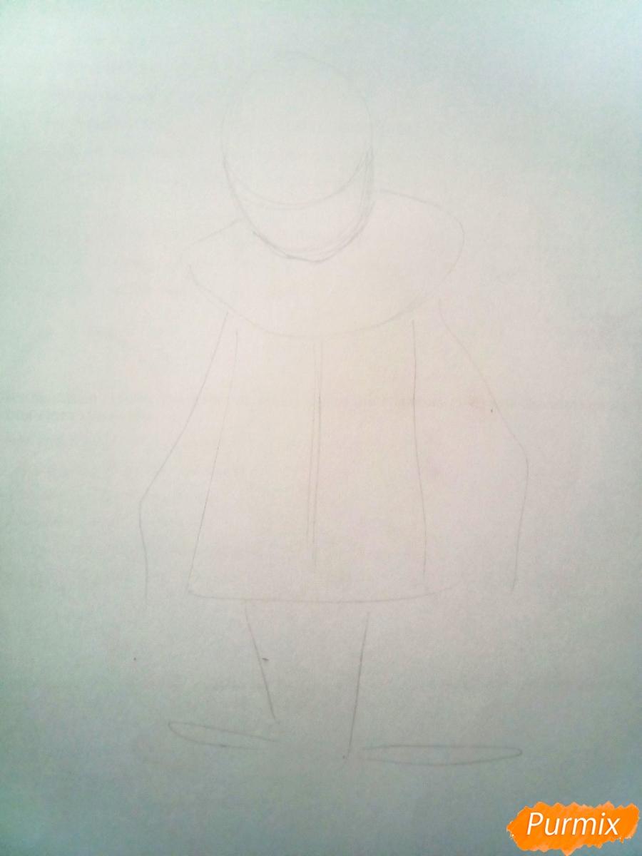 Рисуем грустного Пьеро карандашам - фото 1