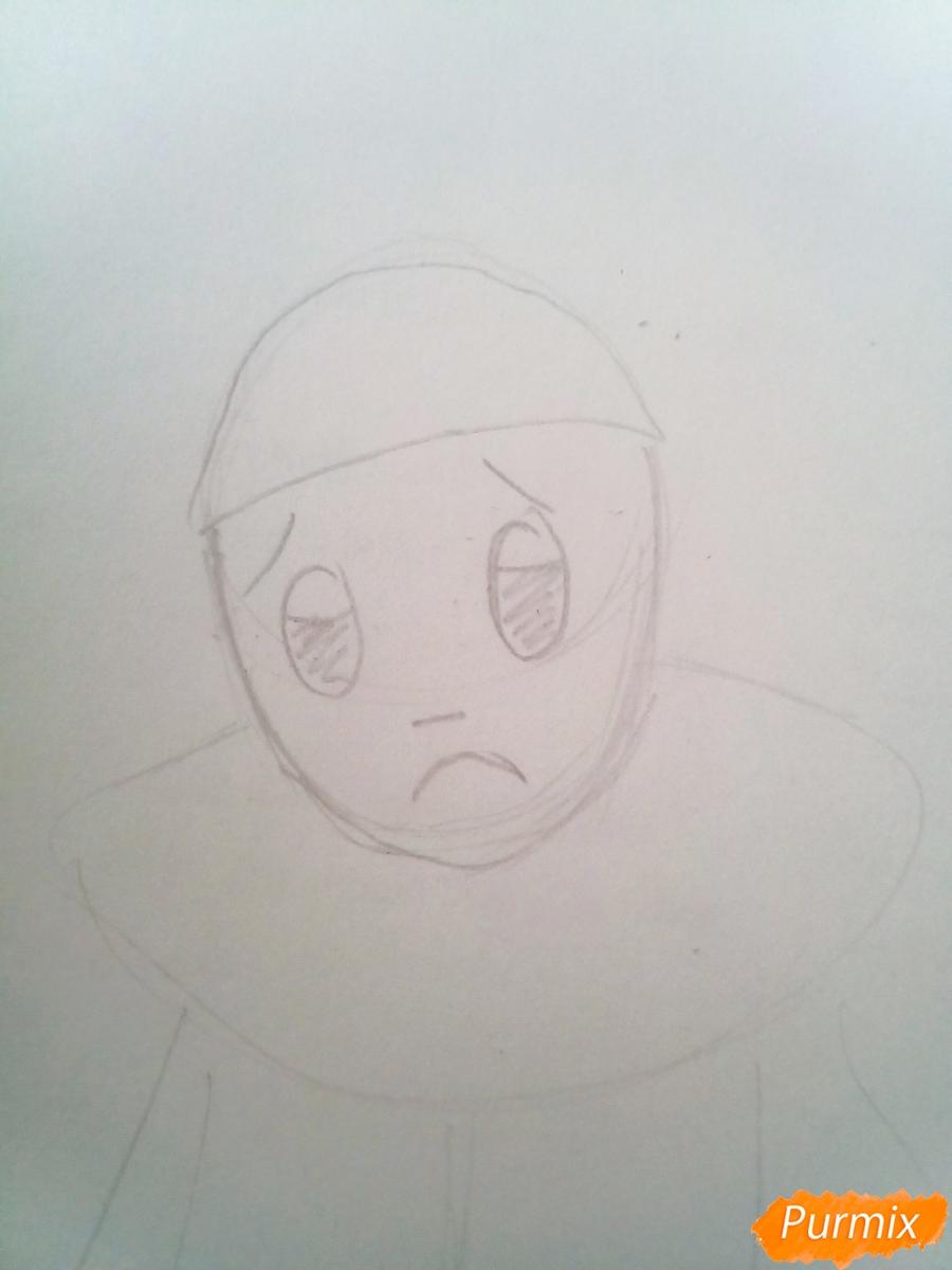 Рисуем грустного Пьеро карандашам - фото 2