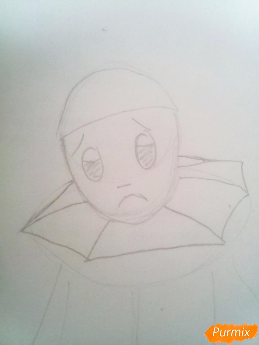 Рисуем грустного Пьеро карандашам - фото 3