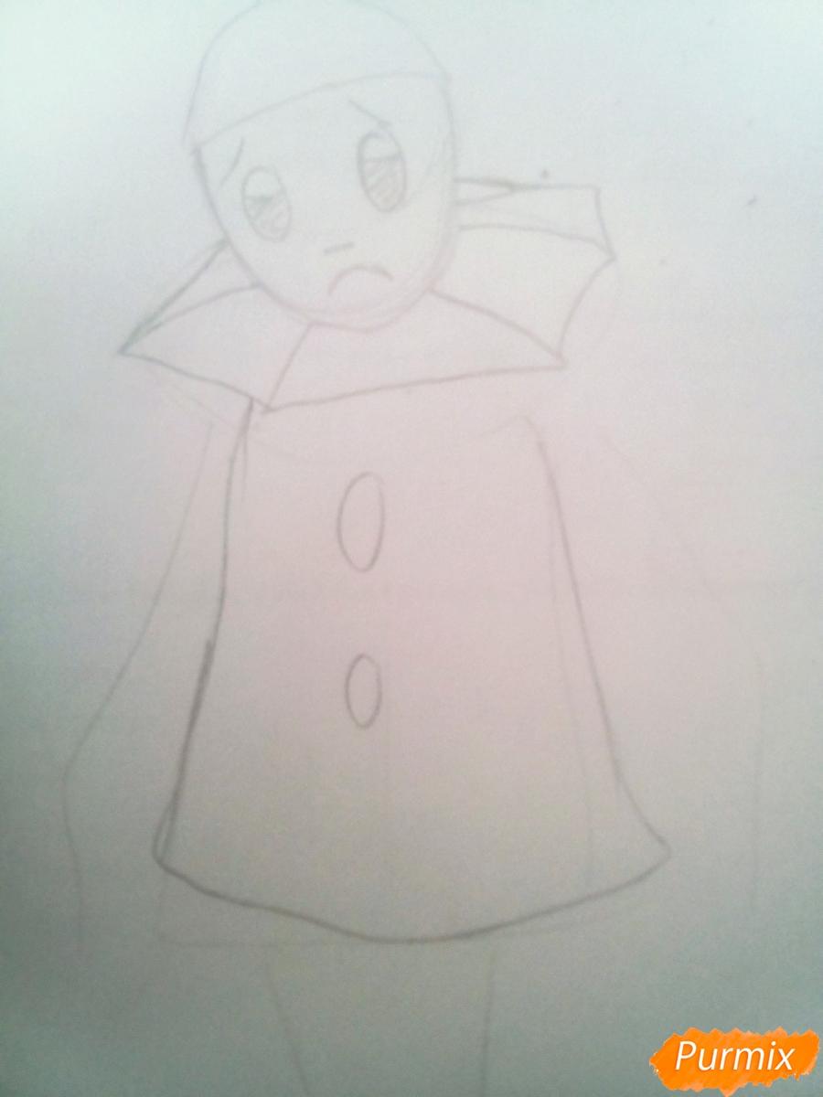 Рисуем грустного Пьеро карандашам - фото 4