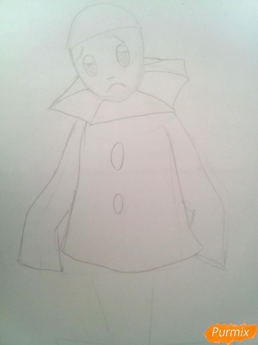 Рисуем грустного Пьеро карандашам - фото 5