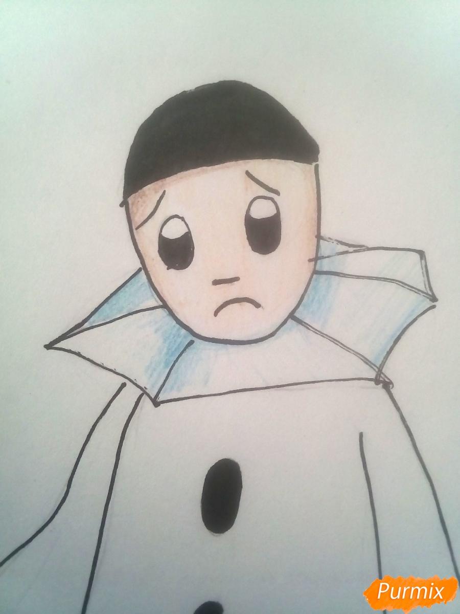 Рисуем грустного Пьеро карандашам - фото 9