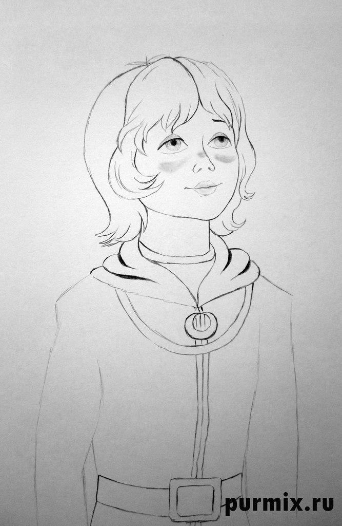Рисуем Алису Селезневу из Тайна Третьей планеты