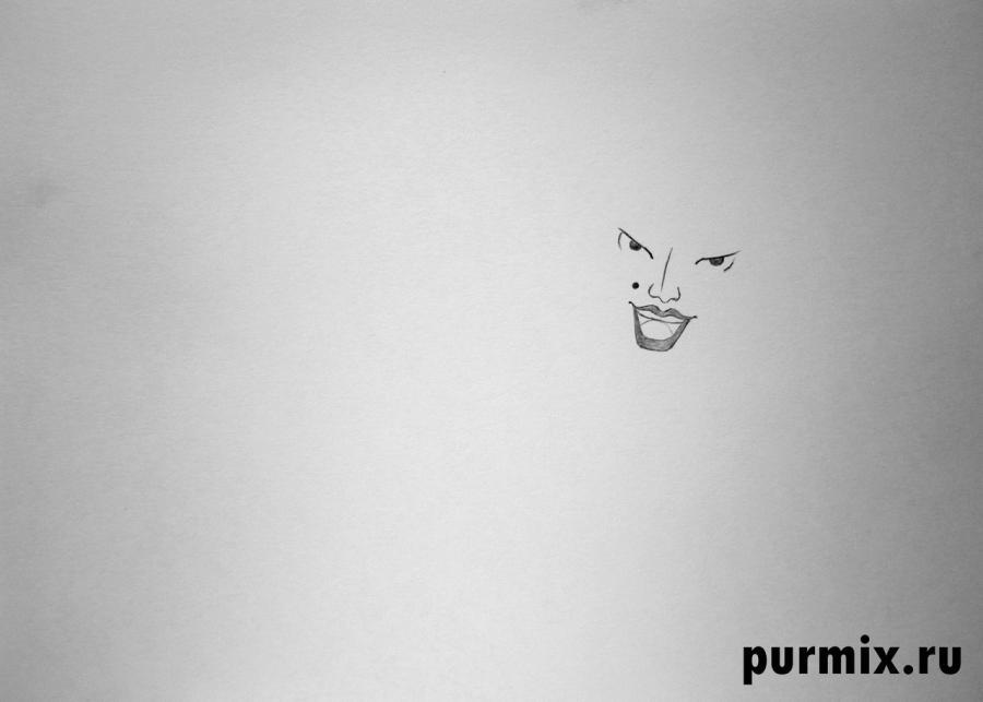 Рисуем Атаманшу из мультфильма Бременские музыканты