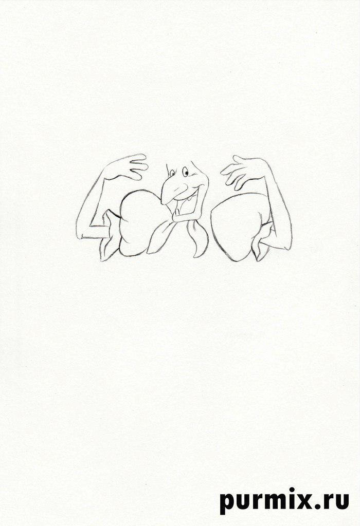 Как нарисовать Бабу-ягу из мультфильма Летучий корабль