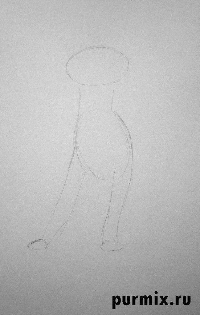 Как нарисовать Багиру из мультфильма Маугли простым карандашом