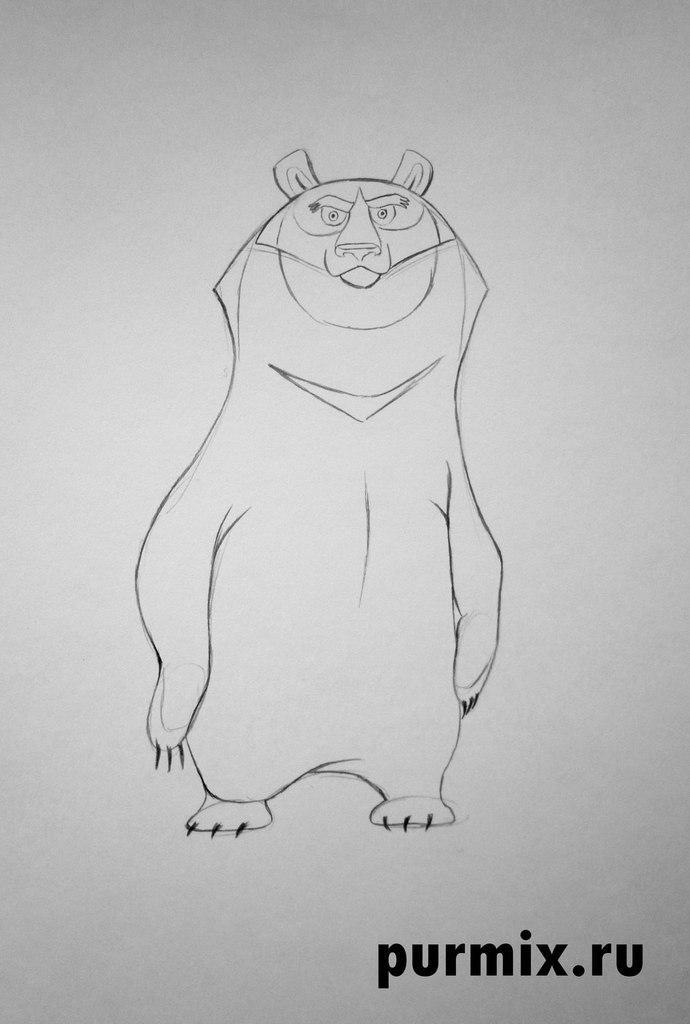 Рисуем Балу из Маугли простым  на бумаге