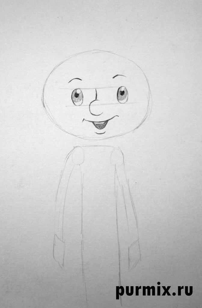 Рисуем дядю Федора из Трое из Простоквашино - шаг 2