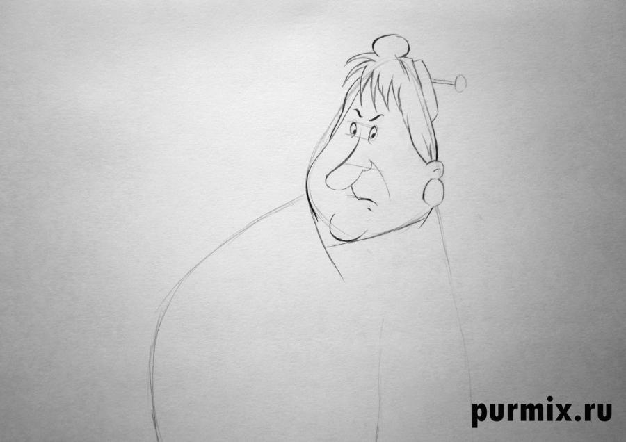 Рисуем Фрекен Бок из Малыш и Карлсон простым