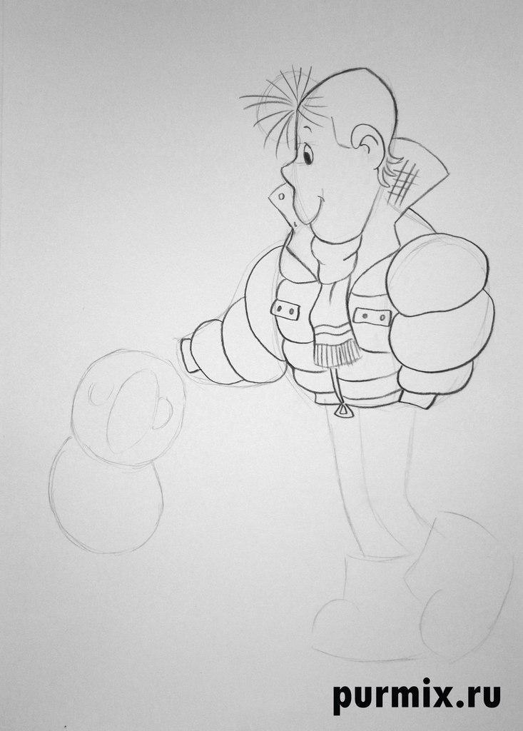 Как нарисовать хулигана и Кешу простым карандашом поэтапно
