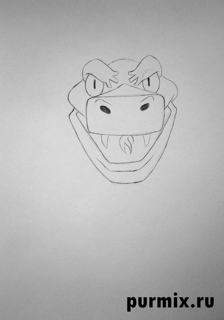 Рисуем Каа из Маугли простым