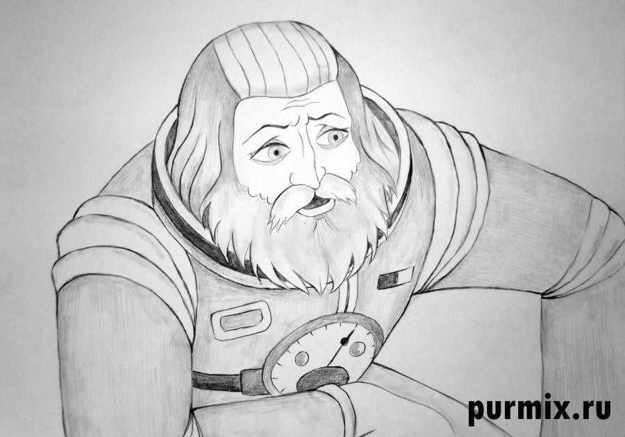 Рисуем капитана Зеленого из Тайна третьей планеты