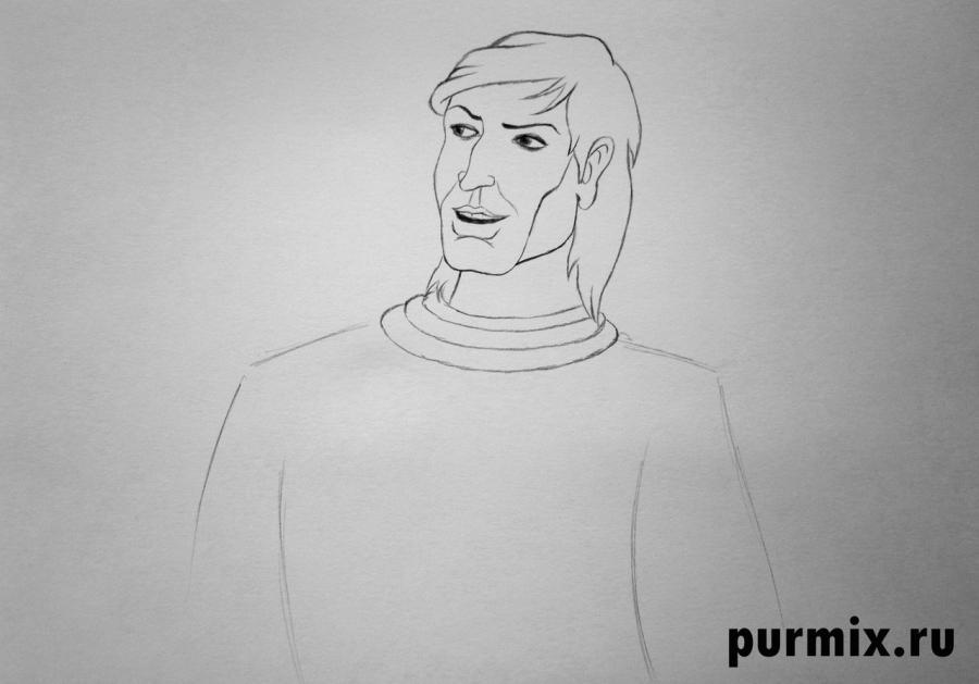 Рисуем капитана Кима из Тайна третьей планеты