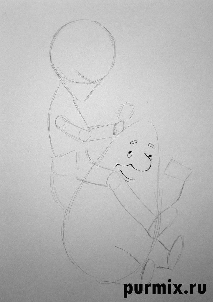 Малыш из малыша и карлсона рисовать поэтапно