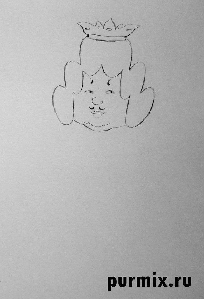Рисуем Короля из Бременских музыкантов