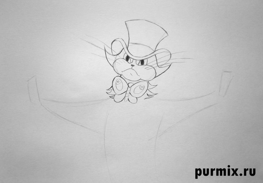 Рисуем кота из Бременских музыкантов