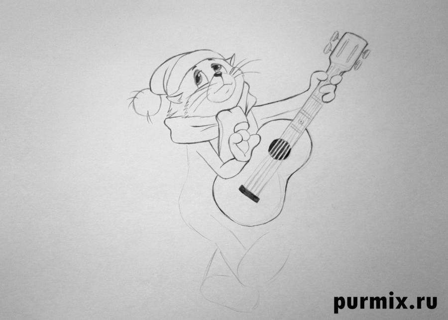 Рисуем кота Матроскина из Трое из Простоквашино - шаг 5