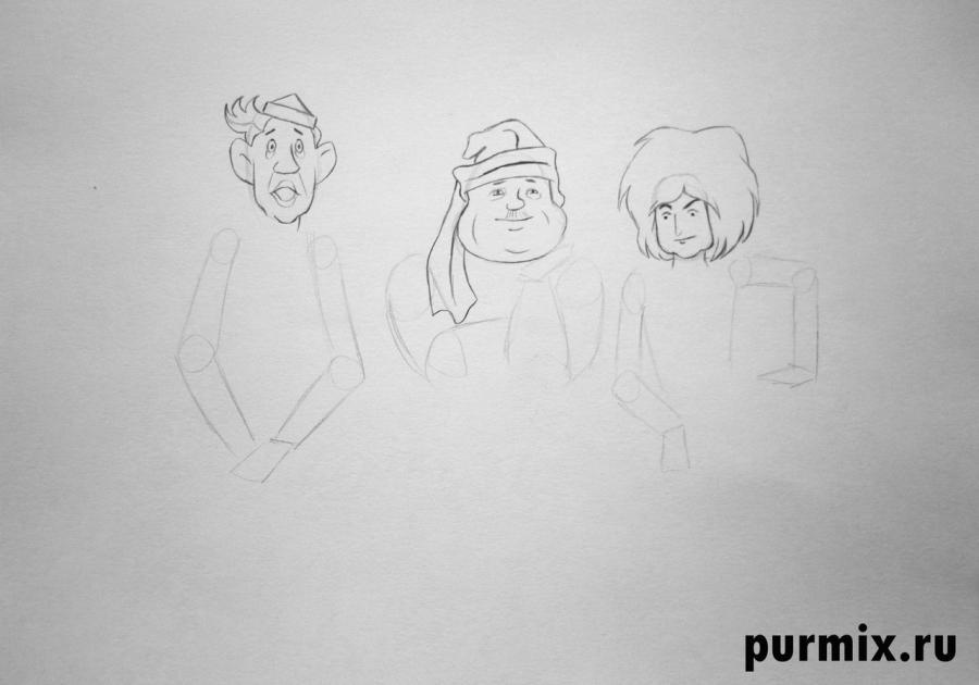 Рисуем Лесных разбойников из Бременских музыкантов