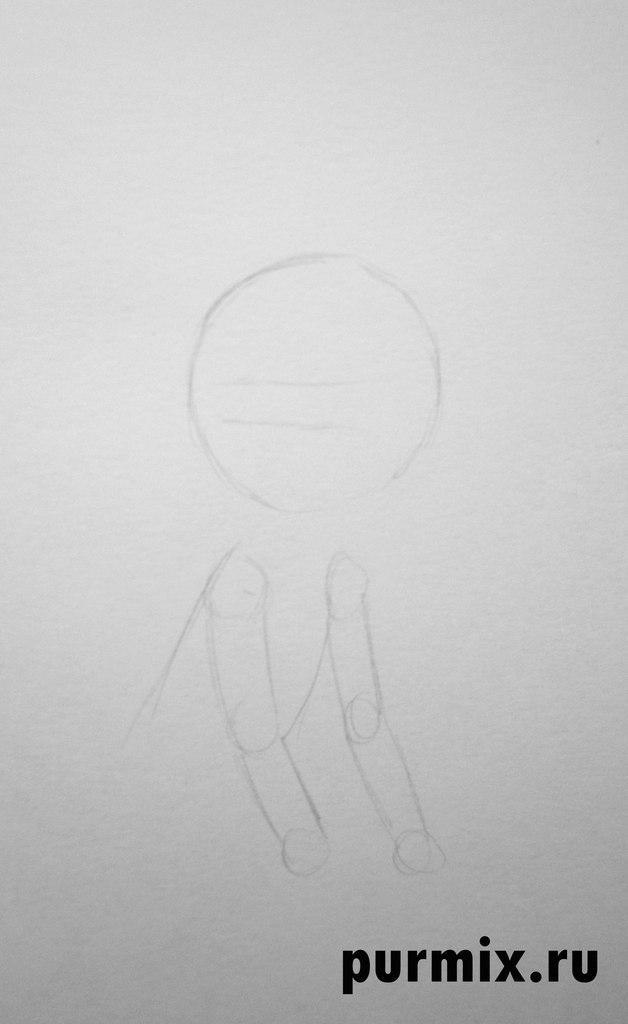 Рисуем маленького Маугли простым