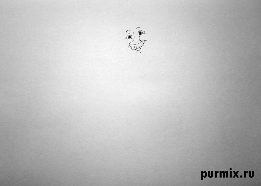 Рисуем почтальона Печкина, Шарика и Матроскина из Трое из Простоквашино - фото 1