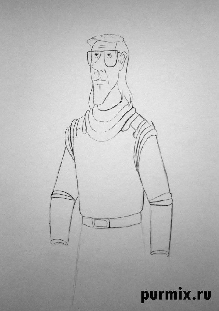 Рисуем профессора Селезнева из Тайна третьей планеты