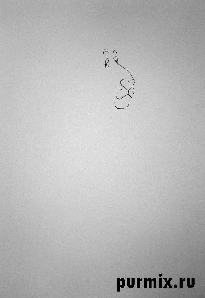 Рисуем Пса из Бременских музыкантов  на бумаге