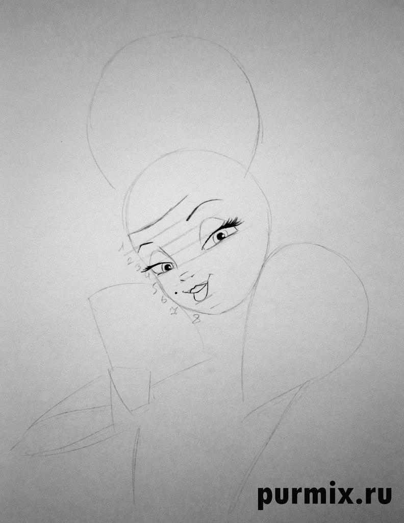 Рисуем Шарлотту из Принцесса и лягушка