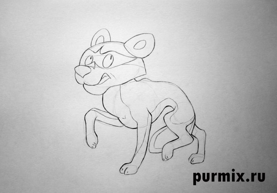 Рисуем Табаки (шакала) из Маугли простым