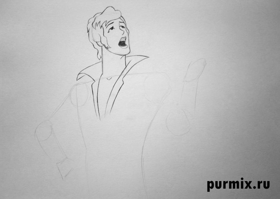 Рисуем Трубадура из Бременских музыкантов простым