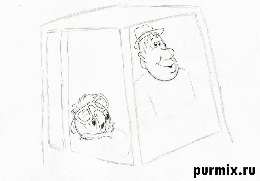 Рисуем Василия и Кешу из Возвращение блудного попугая