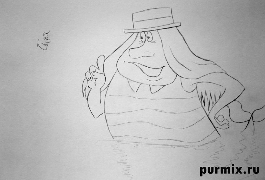 Рисуем Водяного и Ивана из мультфильма Летучий корабль