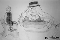 Водяного и Ивана из мультфильма Летучий корабль