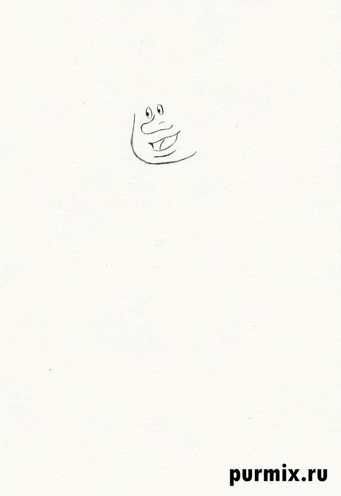 Как нарисовать Водяного из мультфильма Летучий корабль