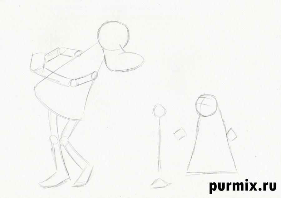 Рисуем Волка и Зайца из Ну, погоди! простым - шаг 1