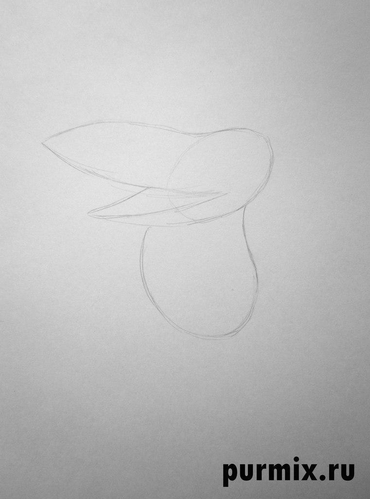 Рисуем ворону из мультфильма Возвращение блудного попугая
