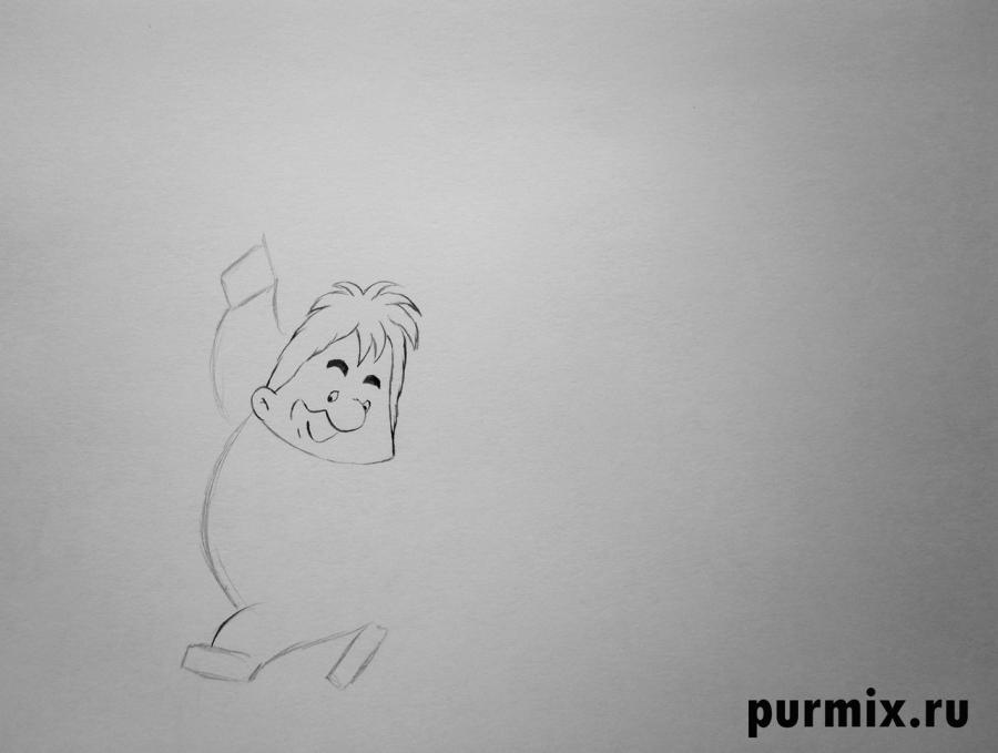 Учимся рисовать Карлсона простым  на бумаге